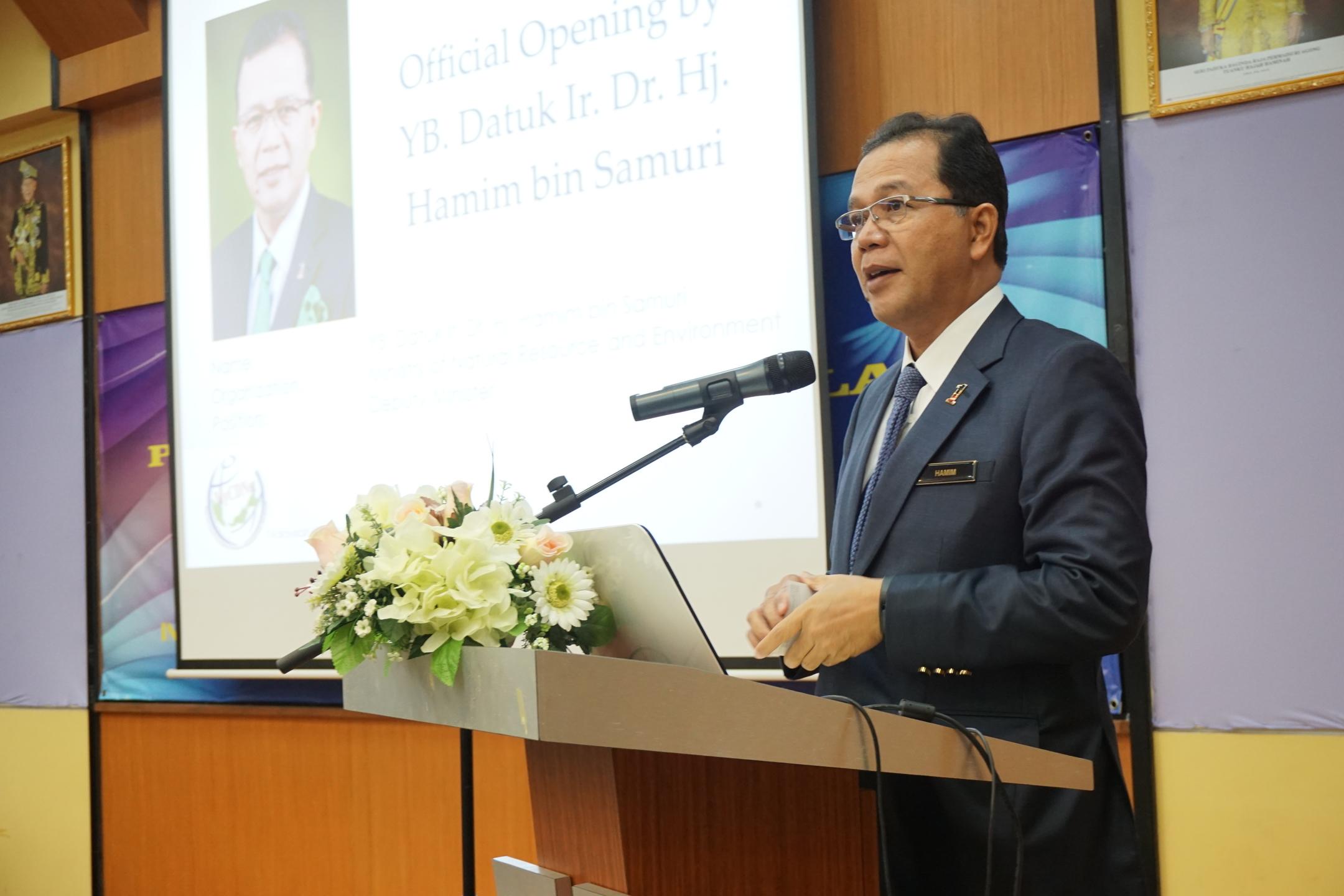 Official Opening by YB Datuk Ir Dr Hj Hamim bin Samuri