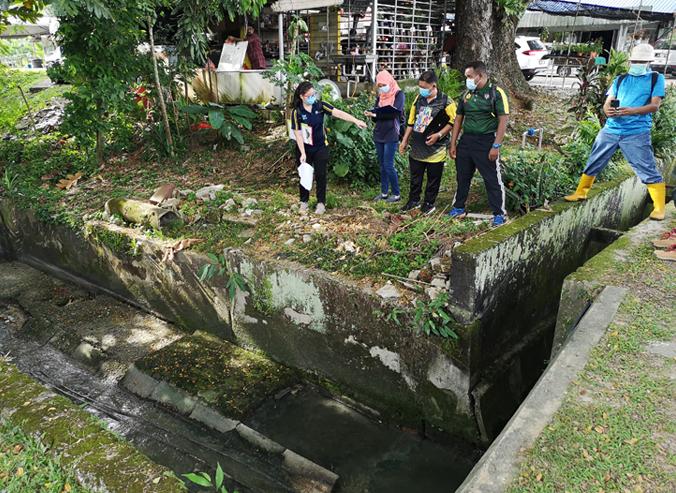 Pollution source mapping at Taman Melawati